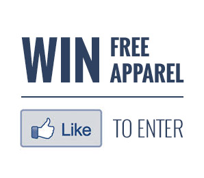 Like us on Facebook to win free apparel